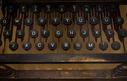 The fragment of an old and vintage typewriter Stock Photography