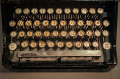 The fragment of an old and vintage typewriter Royalty Free Stock Photo