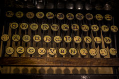 The fragment of an old and vintage typewriter Royalty Free Stock Photography