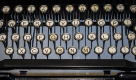 The fragment of an old and vintage typewriter Stock Image