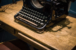 The fragment of an old and vintage typewriter Stock Images