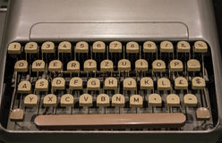 The fragment of an old and vintage typewriter Royalty Free Stock Photos