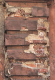 Fragment of old wall with decorative detail Stock Photos