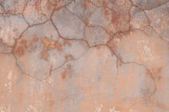 Fragment of the old wall with  scratched plaster Royalty Free Stock Photography