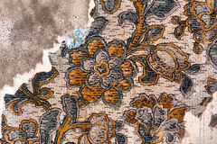 Fragment of old wallpaper Stock Photography