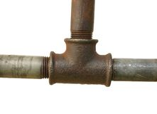 Fragment of the old water conduit Royalty Free Stock Photos