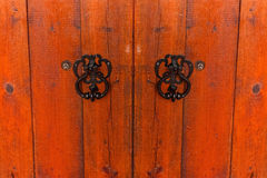 Fragment of old weathered wooden gate Stock Images