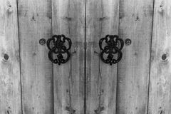 Fragment of old weathered wooden gate Royalty Free Stock Photography