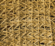 Fragment of an old wicker basket with willow twigs. Royalty Free Stock Image