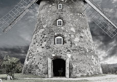 Fragment of old windmill near Cesis, Latvia, Europe Stock Photo