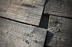 Fragment of an old wooden construction Stock Photos