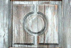 Fragment of old wooden door Royalty Free Stock Photos