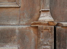Fragment of old wooden door. Fragment of old carved wooden door. Slovenia Stock Image
