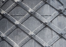 A fragment of an old wooden door gray. Texture, background Royalty Free Stock Photography