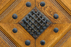 Fragment of old wooden door Stock Photos