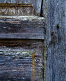 Fragment of an old wooden door. Village House Royalty Free Stock Photography