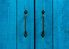 Fragment of old and wooden doors Stock Photography