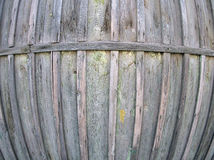 Fragment of an old wooden fence from boards Royalty Free Stock Photo