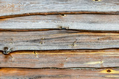 Fragment of old wooden fence. Stock Image