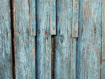 Fragment of an old wooden fence closeup Stock Photo