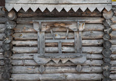 Fragment of old wooden house Royalty Free Stock Images