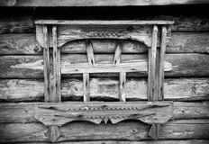 Fragment of old wooden house. Toned.  Royalty Free Stock Photography