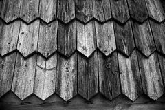 Fragment of old wooden house. Toned.  Royalty Free Stock Photo