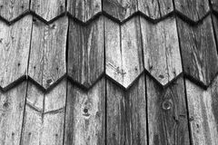 Fragment of old wooden house. Toned.  Royalty Free Stock Photos
