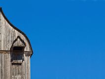 Fragment of an old wooden mill. Ukraine. Pirogovo royalty free stock photo