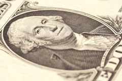 Fragment one dollar banknote Stock Photos