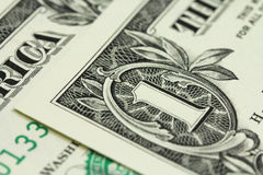A fragment of one dollar bills  background Stock Image