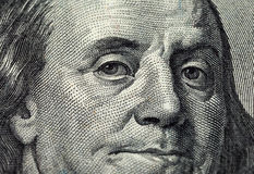 Fragment of one hundred dollars bill Royalty Free Stock Photography