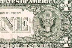 Fragment of one US dollar Royalty Free Stock Images