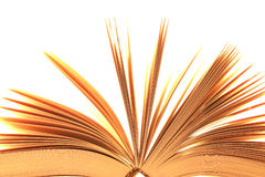 Fragment of the open book Stock Images