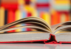 Fragment of an opened book Stock Photos