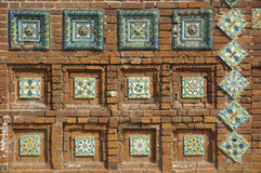 Fragment of ornament of facade of old chapel Royalty Free Stock Photography