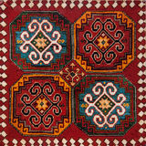 Armenian ornament. Fragment of ornament from old armenian carpet royalty free stock photography