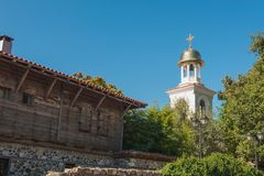 Fragment Orthodox church in the town of Sozopol Stock Photos