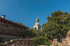 Fragment Orthodox church in the town of Sozopol Stock Image
