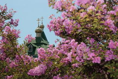 Fragment of an Orthodox church. Stock Photo