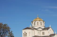 Fragment Orthodoxe Kathedraal van St Vladimir, Kherson, Sebastopol Royalty-vrije Stock Fotografie