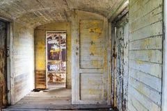 Fragment oude ruimte op de trein Stock Afbeeldingen
