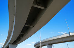Fragment of the overpass. Against the sky Stock Image