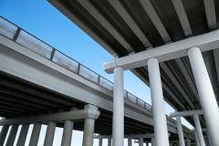 Fragment of the overpass. Against the sky Royalty Free Stock Image