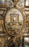 Fragment of painting the ceiling of the Great Hall of the Counci Royalty Free Stock Photo