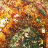 Fragment of painting on silk batik Royalty Free Stock Photos