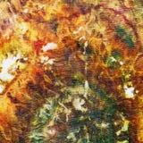 Fragment of painting on silk batik Royalty Free Stock Photos