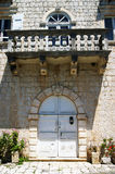 Fragment of the palace in Perast Stock Image