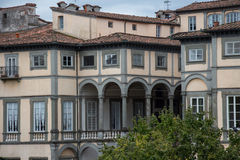 Fragment of Palazzo Pfanner. Lucca. Italy. Stock Images