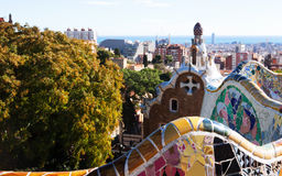 Fragment of Park Guell. Barcelona Stock Images